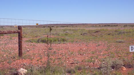A-dog-fence-keeps-wild-dogs-from-agricultural-fields-near-Coober-Pedy-outback-Australia