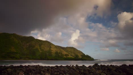 Beautiful-time-lapse-of-clouds-moving-over-the-island-of-Molokai-Hawaii