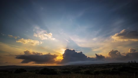 Gorgeous-tropical-clouds-move-in-timelapse-on-the-horizon