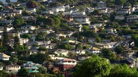 Houses-on-hillside-in-Honolulu-Hawaii