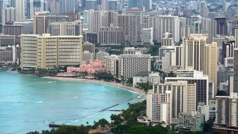 Waikiki-Beach-and-hotels-in-Honolulu-Hawaii-1