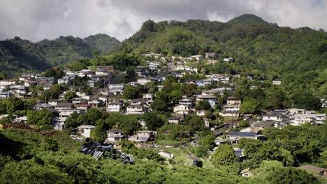 An-establishing-shot-of-a-suburban-Hawaiian-neighborhood-near-Honolulu