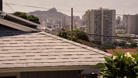 Urban-Honolulu-Hawaii-with-suburban-rooftops-foreground