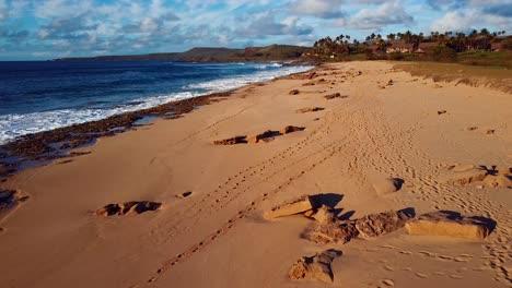 Nice-aerial-shot-over-Molokai-Hawaii-beach-and-coastline-1