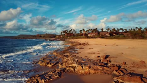 Nice-aerial-shot-over-Molokai-Hawaii-beach-and-coastline-2