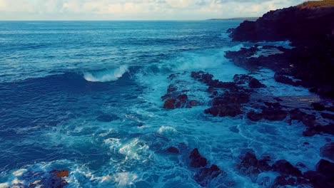 Nice-aerial-shot-over-Molokai-Hawaii-turquoise-waters-1