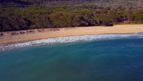 Nice-aerial-shot-over-Molokai-Hawaii-beach-and-coastline-3