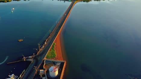 Aerial-over-the-Kaunakakai-Wharf-Molokai-Hawaii-1