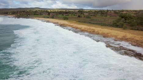 Aerial-over-Kephui-Beach-in-slow-motion-Molokai-Hawaii-1