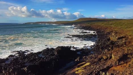 Aerial-over-the-northwest-coast-of-Molokai-Hawaii