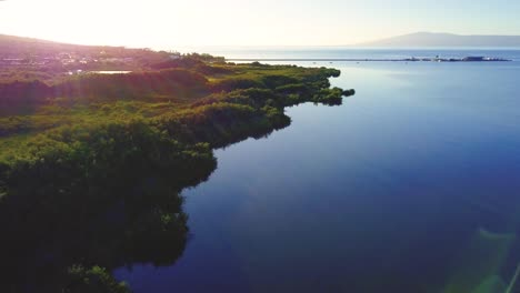 Slow-motion-aerial-over-the-south-coast-of-Molokai-Hawaii