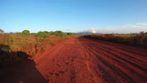 POV-shot-driving-on-a-red-dirt-road-on-the-island-of-Lanai-in-Hawaii-2