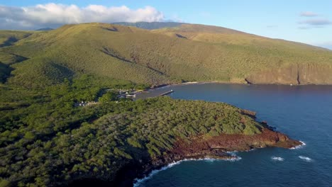 A-flyover-aerial-of-Manele-Point-on-the-Hawaii-island-of-Lanai-1