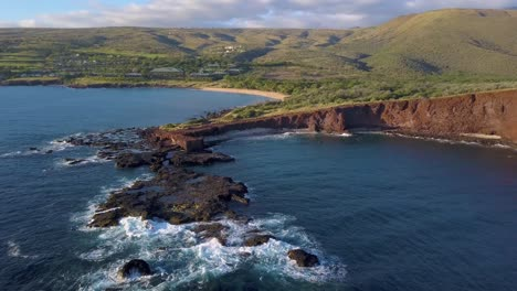 A-flyover-aerial-of-Manele-Point-on-the-Hawaii-island-of-Lanai-5