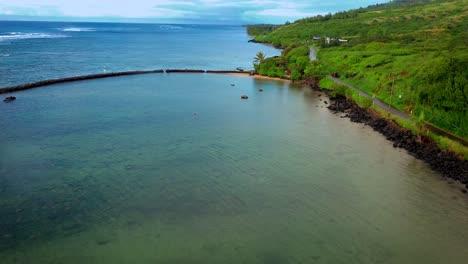 Aerial-over-Kahina-Pohaku-fish-pond-in-Maui-Hawaii