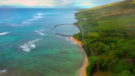 Aerial-over-Kahina-Pohaku-fish-pond-along-coast-of-Maui-Hawaii-2
