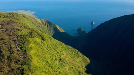Aerial-over-Waikolu-Valley-a-remote-and-restricted-wilderness-area-on-the-island-of-Molokai-Hawaii-1