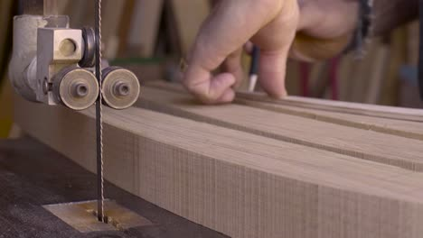 A-woodworker-works-in-his-studio