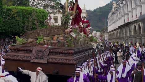 Robed-priests-carry-giant-coffins-in-a-colorful-Christian-Easter-celebration-in-Antigua-Guatemala-4