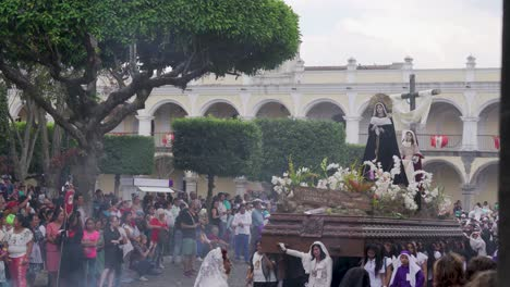 Robed-priests-carry-giant-statues-in-a-colorful-Christian-Easter-celebration-in-Antigua-Guatemala-1
