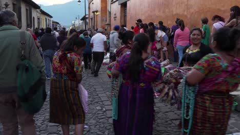 POV-shot-walking-down-a-busy-street-during-Easter-celebrations-in-Antigua-Guatemala-2
