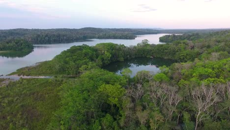 Aerial-over-jungle-landscapes-of-Guatemala