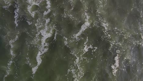 Beautiful-straight-down-aerial-over-ocean-waves
