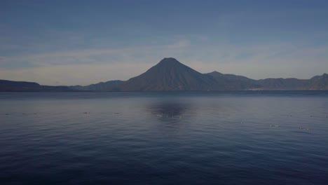 Beautiful-establishing-scenes-of-Lake-Atitlan-and-volcano-Guatemala-Central-America-1