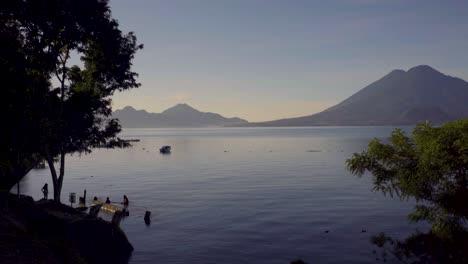 Maya-women-wash-clothes-beside-Lake-Atitlan-in-Guatemala-1