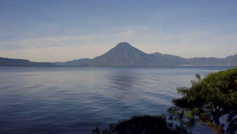 Beautiful-establishing-scenes-of-Lake-Atitlan-and-volcano-Guatemala-Central-America-2