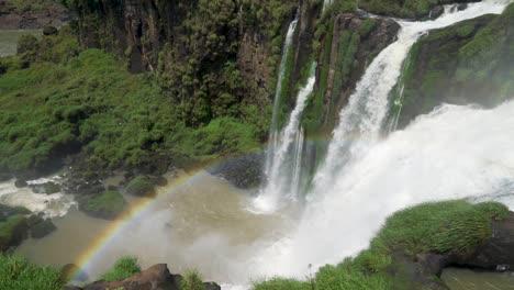 Rainbow-and-waterfalls-Iguazu-Falls