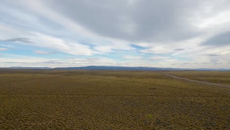 Vista-Aérea-of-route-40-the-patagonia-landscape-and-the-Andes-mountains-near-Bolson-Argentina