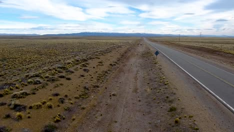 Aerial-of-route-40-the-patagonia-landscape-and-the-Andes-mountains-near-Bolson-Argentina-1