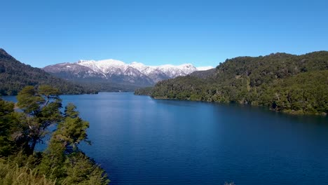 Aerial-of-Lago-Correntoso-and-the-Andes-mountains-in-Parque-Nacional-Nahuel-Huapi-Bariloche-1