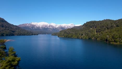 Aerial-of-Lago-Correntoso-and-the-Andes-mountains-in-Parque-Nacional-Nahuel-Huapi-Bariloche-2