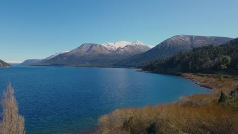 Aerials-of-the-Andes-and-natural-scenic-beauty-of-Lago-Nahuel-Huapi-Bariloche-Argentina-1