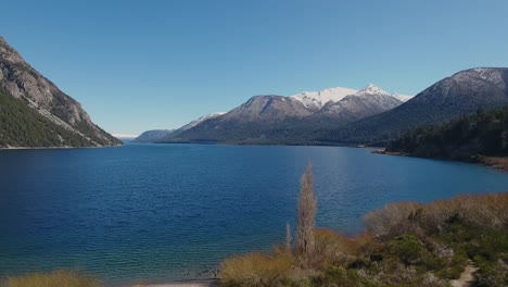 Aerials-of-the-Andes-and-natural-scenic-beauty-of-Lago-Nahuel-Huapi-Bariloche-Argentina-4