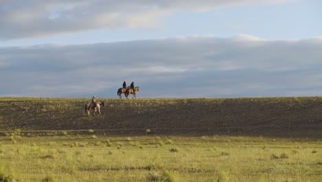Cowboys-on-horseback-during-an-early-morning-roundup-of-a-herd-of-cattle-in-Montana-2