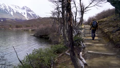 A-hiker-treks-thru-the-wilderness-on-an-adventure-in-cloudy-windswept-Fitz-Roy-National-Park-Argentina-2