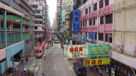 Tilt-up-to-reveal-busy-streets-of-Hong-Kong-China