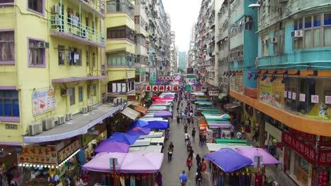 Erstellen-Von-Aufnahmen-Von-Belebten-Straßen-Und-Apartmentkomplex-Von-Hongkong-China