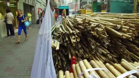 Bamboo-scaffolding-sits-on-the-streets-of-Hong-Kong-China