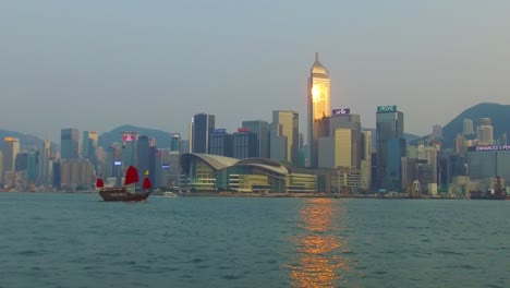 Panning-shot-across-Hong-Kong-harbor-and-skyline-with-clouds-3