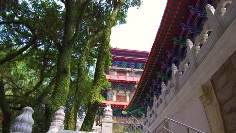 Establishing-shot-of-the-Buddhist-monastery-at-Tian-Tan-Buddha-on-Lantau-Island-Hong-Kong-China