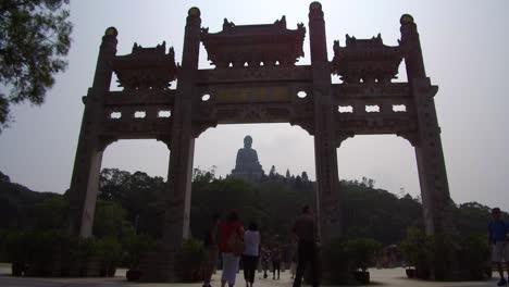 Establishing-shot-of-a-giant-gate-at-Tian-Tan-Buddha-on-Lantau-Island-Hong-Kong-China-1
