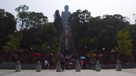 Establishing-shot-of-the-Buddhist-temple-at-Tian-Tan-Buddha-on-Lantau-Island-Hong-Kong-China-2