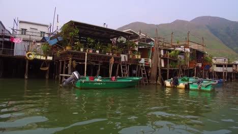 Toma-De-Establecimiento-De-La-Aldea-De-Pescadores-De-Tiao-En-Hong-Kong-China