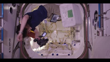 Astronauts-Work-And-Play-Aboard-The-International-Space-Station