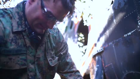 Injured-Soldiers-Are-Treated-Following-A-Terrorist-Bombing-Explosion-In-This-Simulated-Training-Exercise