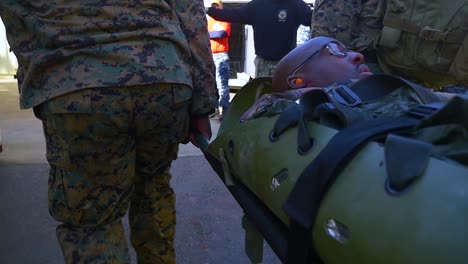 An-Injured-Soldier-Is-Medevac-In-A-Battle-In-Iraq-Or-Afghanistan